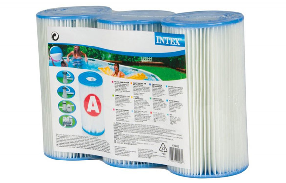 3 cartouches de filtration pour filtre piscine intex type a for Filtre piscine intex