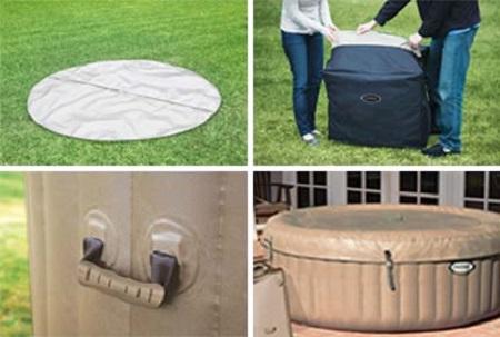 spa gonflable intex purespa rond bulles 6 places accessoires. Black Bedroom Furniture Sets. Home Design Ideas