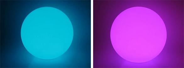 Lampe flottante ronde 35 cm t l commande kokido - Boule lumineuse pour piscine ...