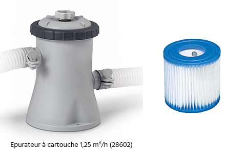 Cartouche pour filtre piscine intex type h 1 25 m h en for Cartouche filtre piscine intex