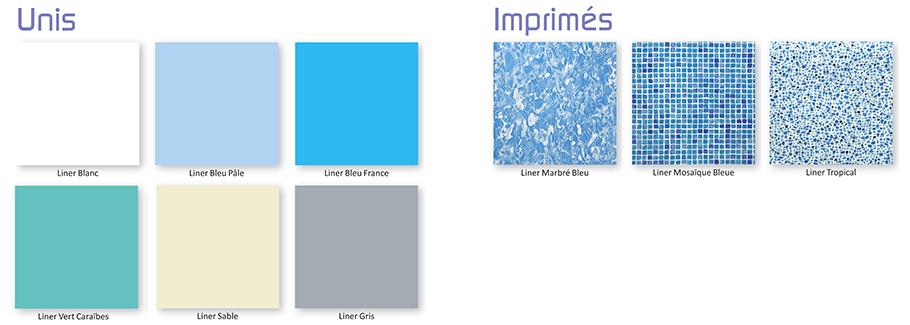 Liner pour piscine enterr e classic blanc albon - Couleur piscine liner ...