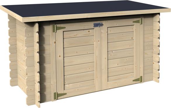 coffre filtration piscine en bois 190 x 87 cm decor et jardin. Black Bedroom Furniture Sets. Home Design Ideas
