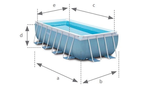 Piscine tubulaire rectangulaire intex 4 x 2 x 1 m kit for Dimension piscine