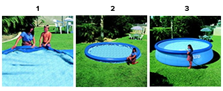 Piscine autoport e intex easy set 3 96 x 0 84 m for Montage piscine intex