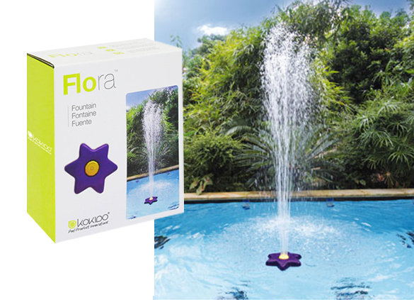 Fontaine flottante pour piscine flora kokido for Fontaine de piscine
