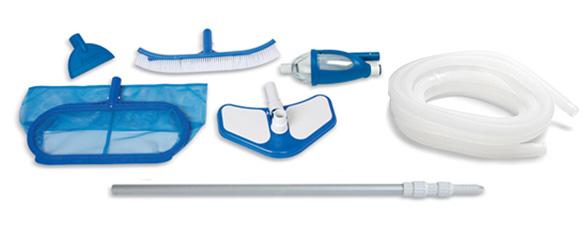Kit d 39 entretien vac pour piscine intex for Kit entretien piscine