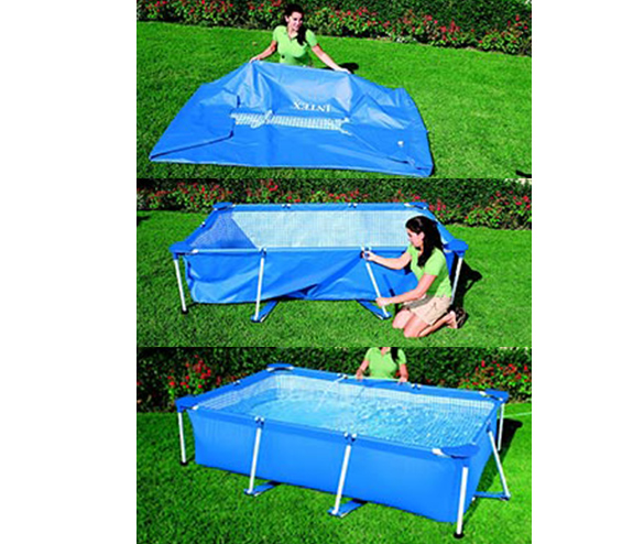 Piscine tubulaire carr e intex 1 22x 0 30 m bleu pas for Montage piscine intex