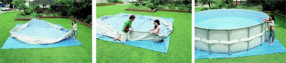 piscine tubulaire ronde intex 4 27 x 1 22 filtration sable. Black Bedroom Furniture Sets. Home Design Ideas