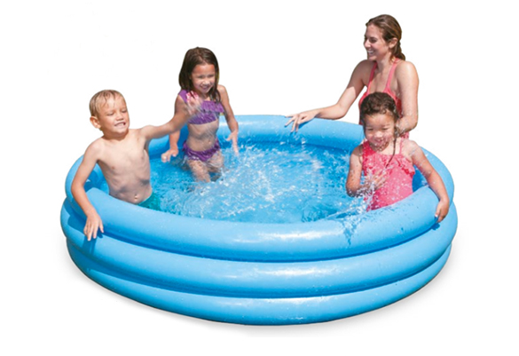 Piscine gonflable intex bleu crystal for Piscine 3 boudins intex