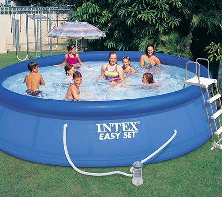 Piscine autoport e intex 4 57 x 1 07 m syst me de filtration for Accessoire piscine 07