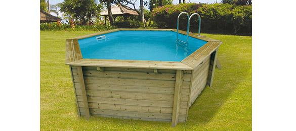 Piscine bois azura ubbink 4 1 x 1 2 m filtration for Prix piscine bois sans liner