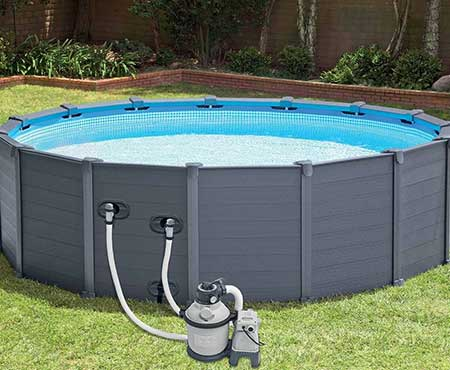 Piscine tubulaire intex graphite 4 78 x 1 24 m for Piscine hors sol sequoia spirit intex