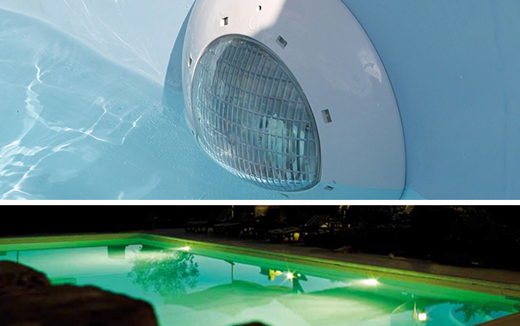 spot pour piscine bois 35 w led rouge vert bleu. Black Bedroom Furniture Sets. Home Design Ideas