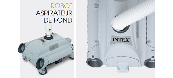 Robot de piscine nettoyeur de fond intex for Intex aspirateur de fond
