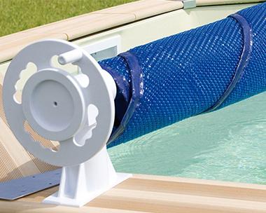 Enrouleur b che bulle piscine hors sol et enterr e for Fabriquer un enrouleur de bache a bulle