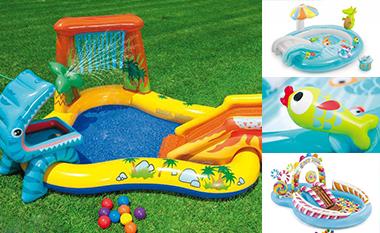 Aire de jeu et structure gonflable piscine intex pour enfant for Petite piscine gonflable bebe