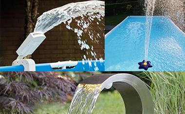 cascades de piscine en inox pas cher embellissez votre bassin. Black Bedroom Furniture Sets. Home Design Ideas