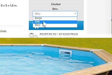Liner piscine bois ubbink azura oc a linea petit prix for Prix pour changer un liner de piscine