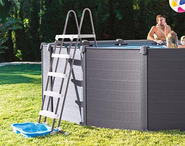 echelle de s curit pour piscine hors sol intex avec. Black Bedroom Furniture Sets. Home Design Ideas