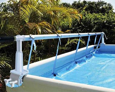 Enrouleur b che bulle piscine hors sol et enterr e for Fabriquer un enrouleur de bache pour piscine