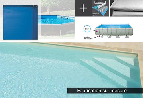 Liners pour piscines hors sol et enterr es pas cher for Liner bassin sur mesure