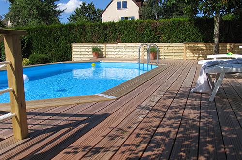 local technique piscine hors sol ou enterr bois ou pvc. Black Bedroom Furniture Sets. Home Design Ideas