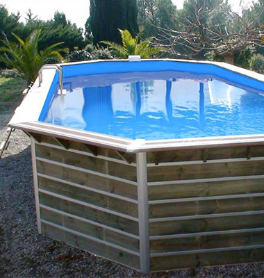 Piscine bois waterclip avec filtration le montage le for Piscine waterclip