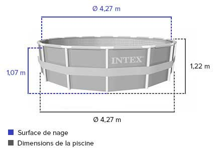 Piscine Tubulaire Ronde Intex 4 27 X 1 22 Filtration Sable