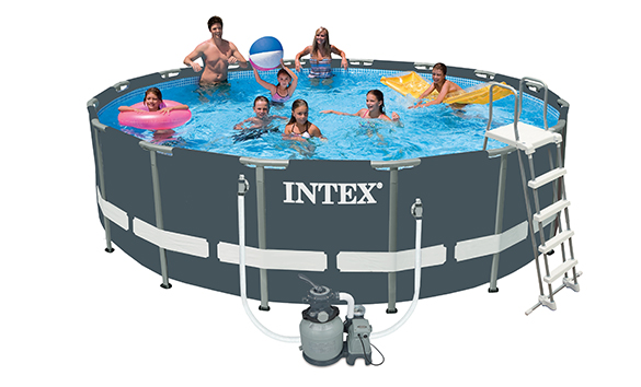 Piscine tubulaire ronde intex 4 88x1 22 m ultra frame for Piscine ronde intex