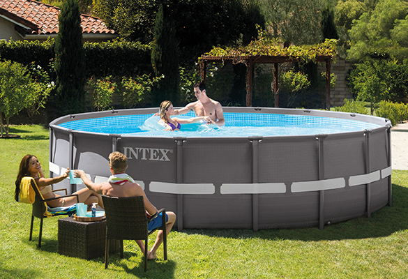 piscine tubulaire intex ronde ultra frame 5 49x1 32m filtration. Black Bedroom Furniture Sets. Home Design Ideas