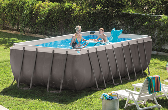 28348 Piscine Tubulaire Intex Ultra Silver Rectangulaire