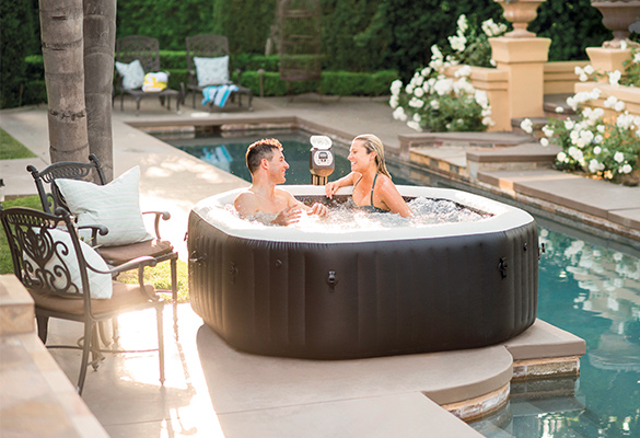 spa gonflable intex purespa octogonal bulles jets 4 places accessoires. Black Bedroom Furniture Sets. Home Design Ideas