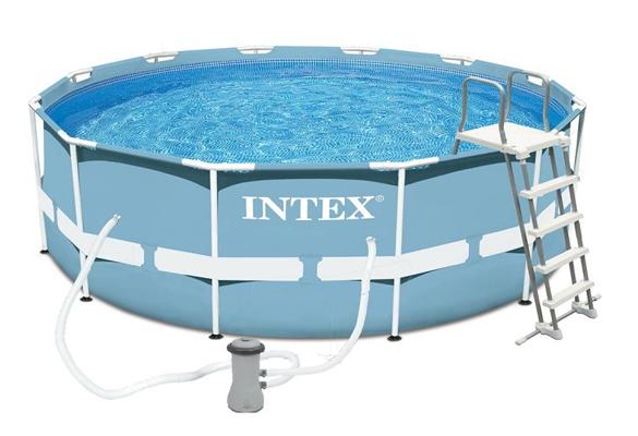 piscine tubulaire ronde intex 3 66 m h 1 22 m prix mini. Black Bedroom Furniture Sets. Home Design Ideas