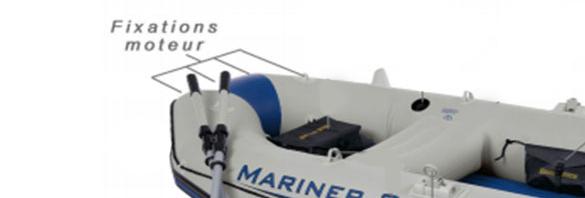 set bateau gonflable 3 places mariner 3 intex. Black Bedroom Furniture Sets. Home Design Ideas