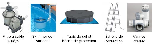 Piscine tubulaire intex graphite 4 78 x 1 24 m for Vanne d arret piscine intex