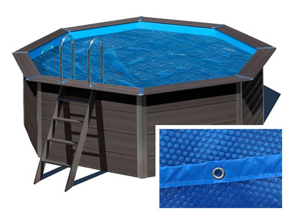 B che bulles pour piscine composite gr ronde 4 1 m for Bache octogonale piscine