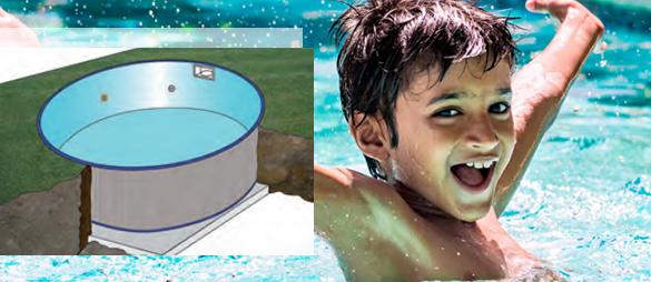 piscine enterr e en kit gr mod le madagascar ronde 4 2. Black Bedroom Furniture Sets. Home Design Ideas