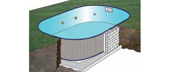 piscine enterr e en kit gr mod le sumatra taille au choix. Black Bedroom Furniture Sets. Home Design Ideas