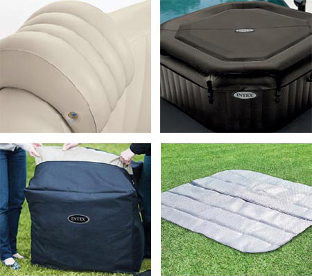 spa gonflable intex purespa octogonal bulles jets 4. Black Bedroom Furniture Sets. Home Design Ideas