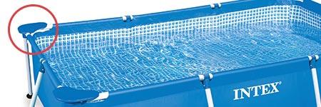 angle de piscine tubulaire rectangulaire bleue intex. Black Bedroom Furniture Sets. Home Design Ideas