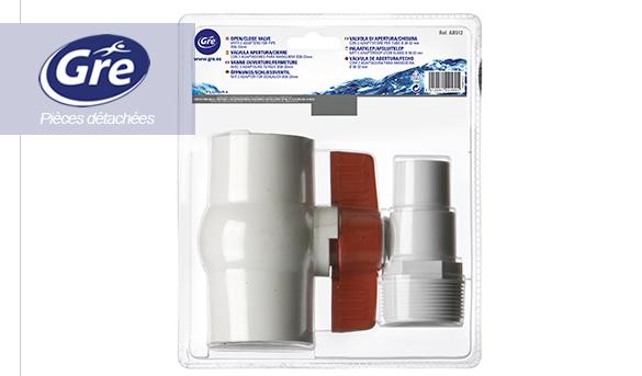 Kit vanne 1 4 tour embout cannel pour tuya u de piscine for Vanne d arret piscine hors sol 32 38mm
