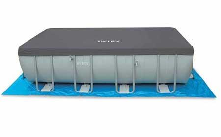 b che de protection intex pour piscine tubulaire rectangulaire. Black Bedroom Furniture Sets. Home Design Ideas