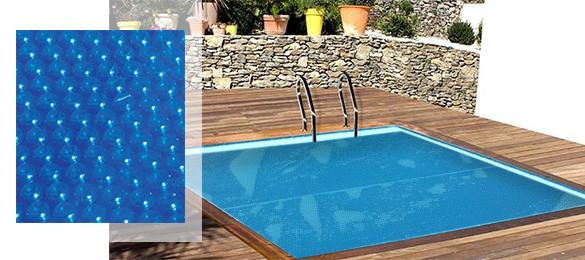 B che bulles sunbay pour piscine bois carr e 3 x 3 m for Bache piscine sunbay