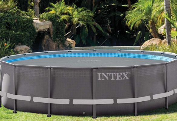 B che bulles intex renforc e pour piscines tubulaires rondes for Piscine tubulaire grise