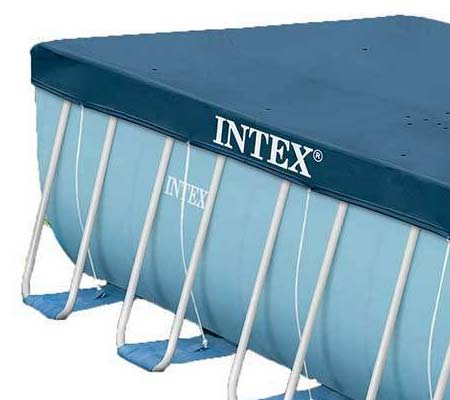 B che de protection intex pour piscine tubulaire rectangulaire for Bache piscine intex rectangulaire