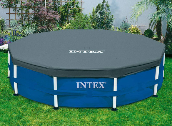 B che de protection intex pour piscine tubulaire ronde - Bache hivernage piscine intex ...