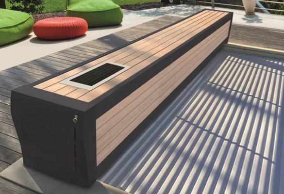 volet roulant de piscine sofatec mod le hors sol banc prestige solaire. Black Bedroom Furniture Sets. Home Design Ideas