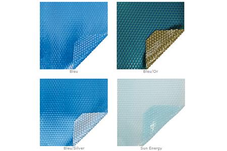 bâche à bulles piscine sur mesure quatro 500 microns albon