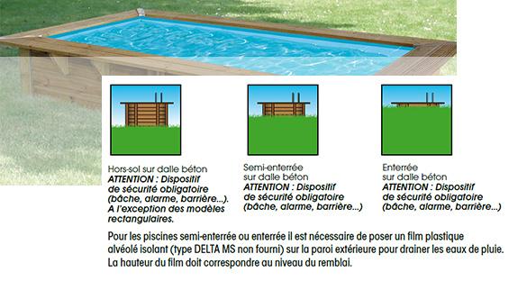 Piscine bois ubbink azura 3 5x2x0 71m liner bleu for Installation piscine bois