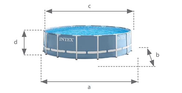 piscine tubulaire ronde intex 4 57 x 1 07 m kit filtration. Black Bedroom Furniture Sets. Home Design Ideas